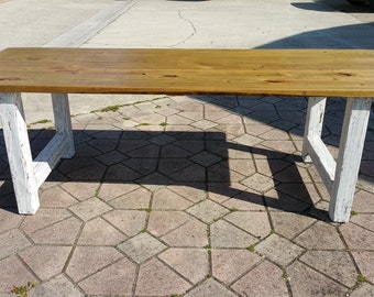 Farm Table, Reclaimed Wood Indoor/Outdoor Dining Table Modern Industrial Chic