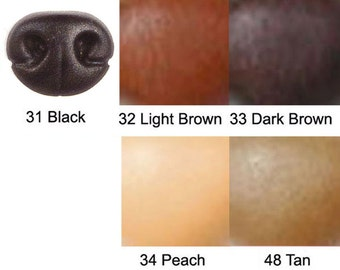 1 Plastic Safety Nose 26mm x 21mm Colour #33 Dark Brown Article H with Metal Washers Size 5 Lifelike Animal Nose with Nostrils