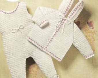INSTANT DOWNLOAD - PDF - Vintage Pram Set Crochet Pattern(CB19)