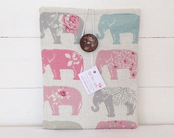 Elephant iPad Cover, Elephant iPad Sleeve, Elephant iPad Case, Tablet Cover, Tablet Sleeve