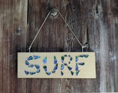 Surf sign – Wood and enameled copper handmade sign