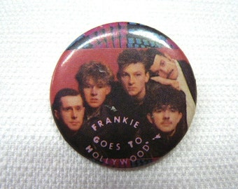 Vintage Early 80s Frankie Goes to Hollywood Pin / Button / Badge