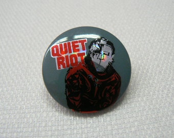 Vintage Early 80s Quiet Riot Pin / Button / Badge - Metal Health Album Cover
