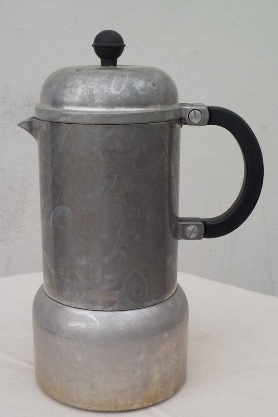 Antique Italian Coffee Maker : Vintage Italian Coffee Maker Moka Pot by BuyFoundObjects on Etsy
