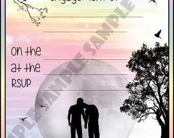 Gay Male / Males Engagement Party Invitations / Invites