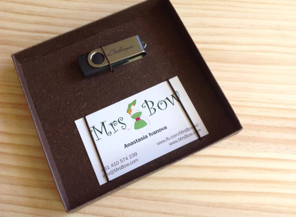 Custom made USB and business card box USB by PixBoxStudio
