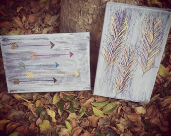 Rustic Arrow and Feather Wall Decor (sold separately, not as a pair)