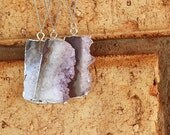 Silver Amethyst Necklace / Sterling Silver / Amethyst Necklace / Layering Necklace / Boho Necklace / Crystal Necklace