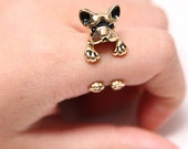 Dog ring, Animal ring, Pet ring, Cute ring, Women's ring, Gold ring, Vintage ring, size 5-9