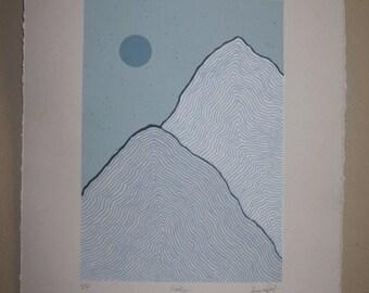 Peaks: 5 Color Screenprint