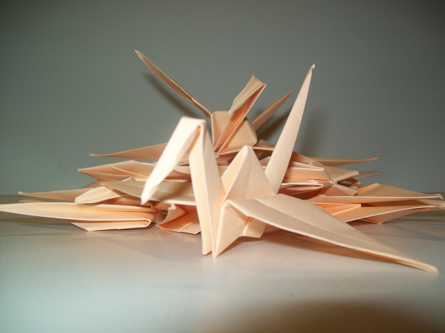 Wedding Origami Crane Decor Set Of 100 Peach Origami Crane