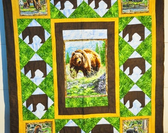 Outdoor themed quilt-Bears