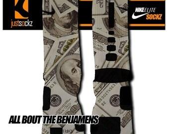 Custom Nike Elite All the Benjamins