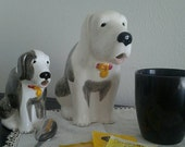 Vintage milk and creamer pitcher dog figurines table decor hostess gift