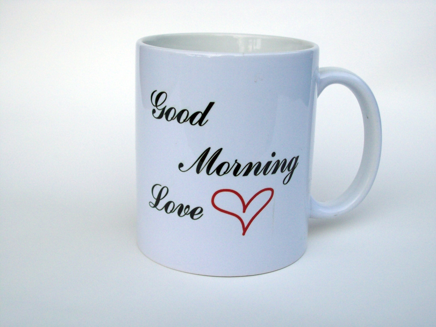 Good Morning Sweetheart Coffee : Good morning love coffee mug by themessageshop on etsy