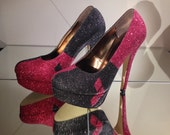 Harley Quinn Glitter High Heel Shoes
