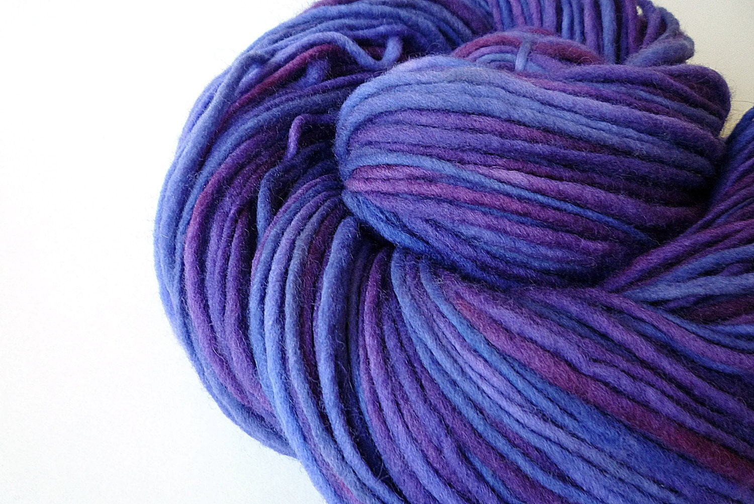 Worsted Weight Yarn : Worsted Weight Yarn Hand Dyed Yarn Single Ply by IriaYarnCompany