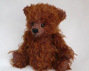 Artist bear, a sweet 5 inch mohair bear.