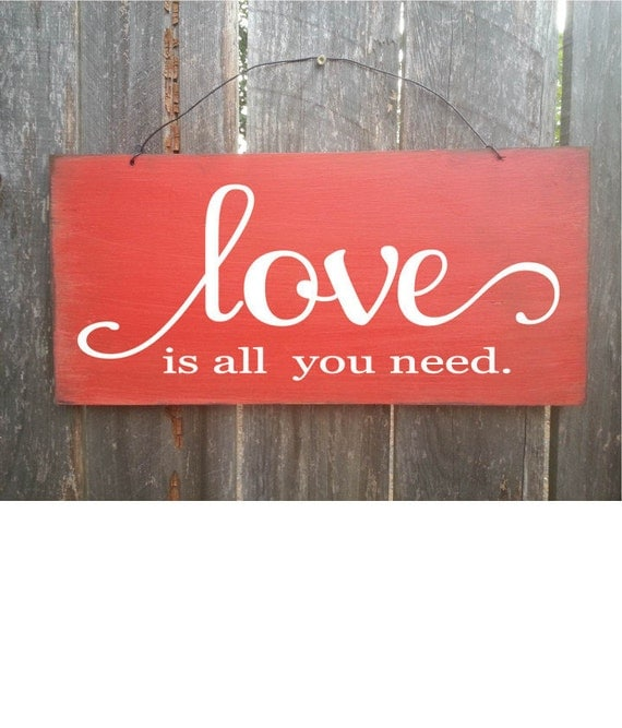 Valentine's Day, Valentine decor, wedding decoration, rustic wedding decor, love sign, wood love sign, all you need is love sign