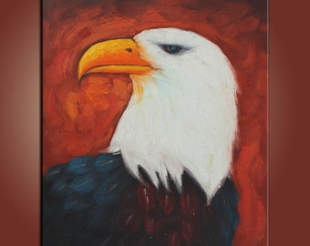 Abstract Art Animal Oil Painting Eagle Painting Oil Painting Canvas Painting Small Oil Painting Palette Knife Oil Painting