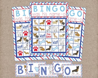 Dog Bingo Game! Dog, Doggy, Puppy Bingo! Perfect for Puppy Party, Classroom Game, Toddler Game! Digital Instant Download.