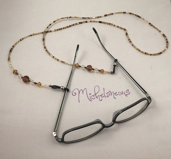 eyeglass holder eyeglass lanyard beaded eyeglass by