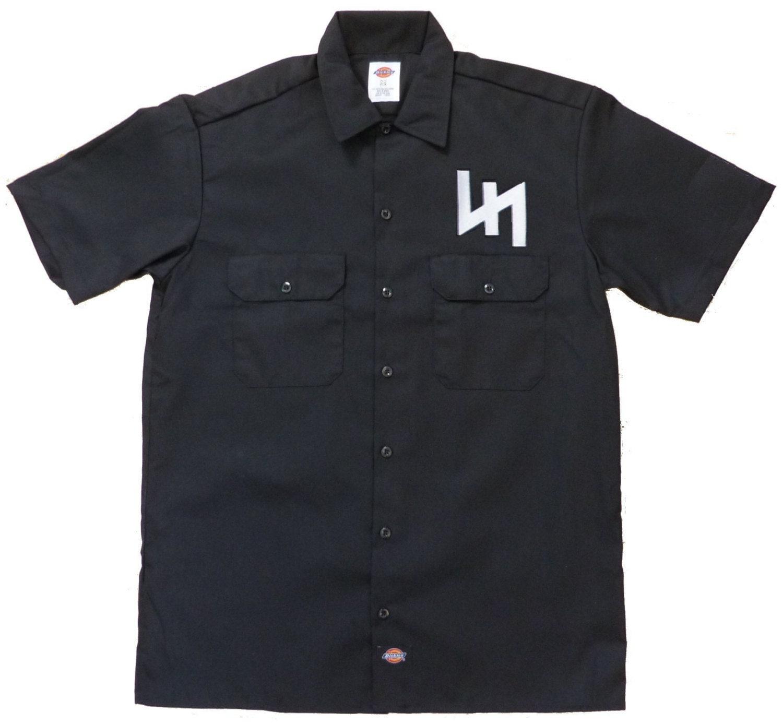 Wolfsangel embroidered work shirt dickies