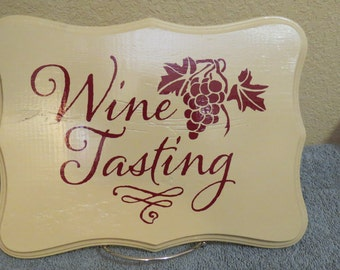 Wine Tasting Wooden Sign