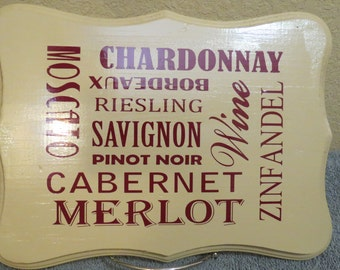 Different Wines Sign