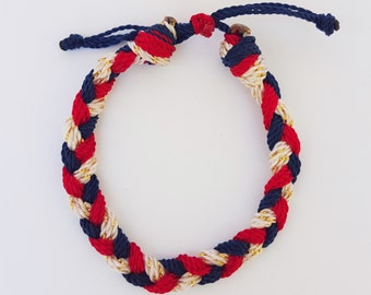 Red,White and Blue, Gold Patriotic,fourth of July (kids,baby,toddler,adult) bracelet/anklet, waterproof,string bracelet, ADVENTURE BRACELETS