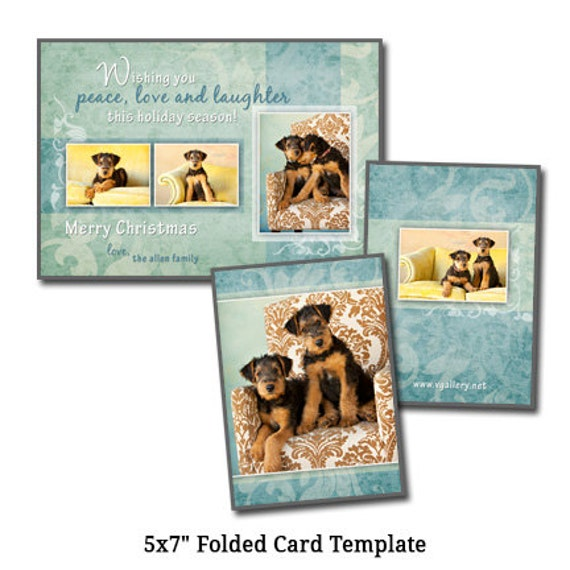 5x7 postcard mailing template - 5x7 folded christmas card template holiday card