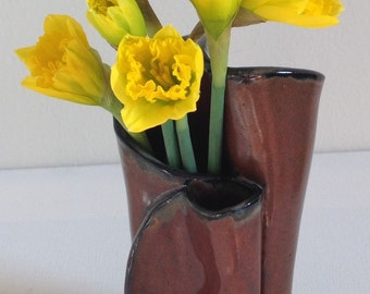 Slab Pottery Flower Vase