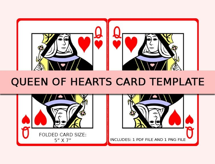 queen of hearts card template - photo #9