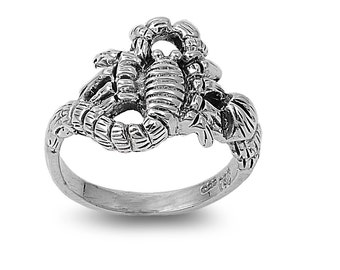 Scorpion Ring 15MM Sterling Silver 925