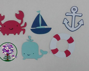 Nautical Die Cuts, First Birthday, Shower Decorations, Centerpieces, Ahoy Nautical Anchor Shapes, It's A Boy