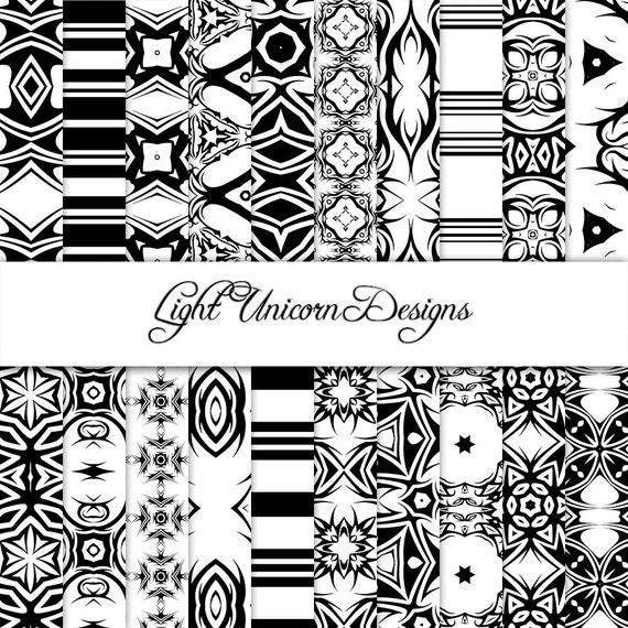Tribal tattoo digital scrapbook printable paper for Printable tattoo paper