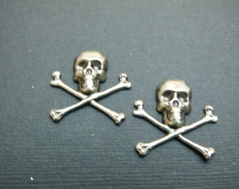 Pirate-Skull and Crossbones Stud Earrings