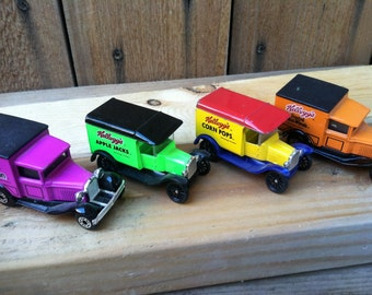 1979 and 1989 Matchbox Kellogg's set of 4 cars.