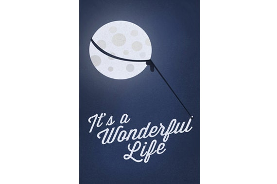 It 39 S A Wonderful Life Minimalist Poster Holiday Movie