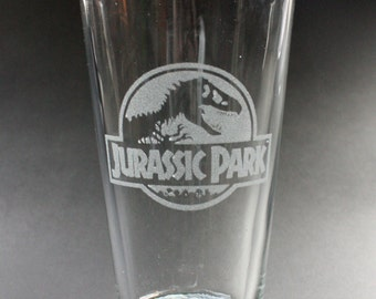 Jurassic Park Themed Drinking Pint Glass
