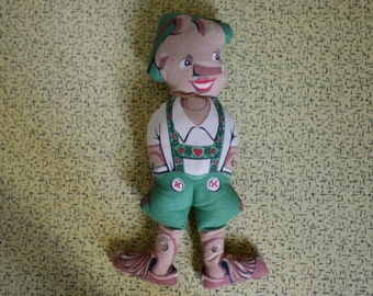 SALE!! Was 8 now 4!!!! Pinocchio Vintage Cloth Doll