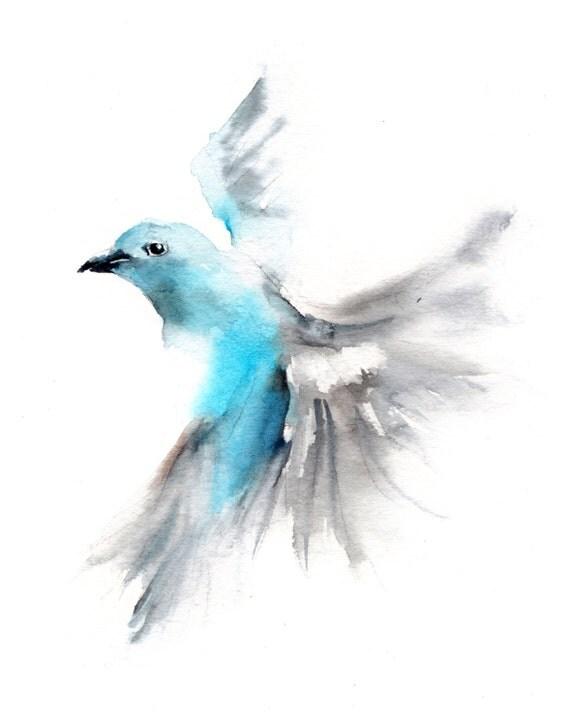 Watercolor Bird Flying Flying Bird Watercolor