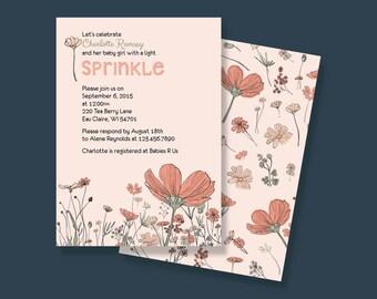 Baby Girl Sprinkle Invitation