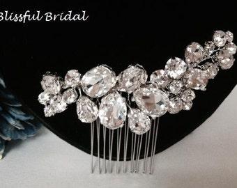 Crystal Wedding Comb, Rhinestone Bridal Comb, Swarovski Crystal Wedding Hair Comb, Bridal Hair Clip, Wedding Headpiece, Bridal Hair Piece