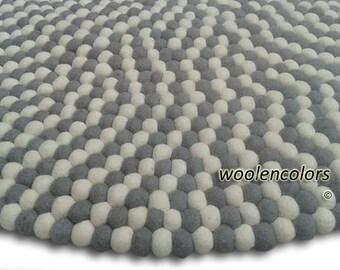 Felt Ball Rug Toadstool Free Shipment By Handmadefeltballs
