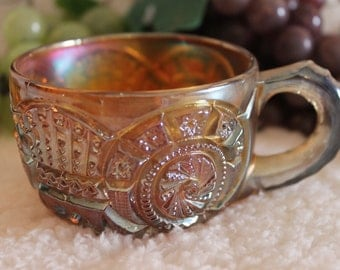Imperial Glass Marigold Carnival Glass Punch Cup - Broken Arches Pattern