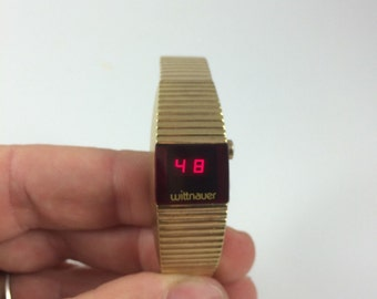 Vintage Wittnauer Women's Digital LED Gold Watch