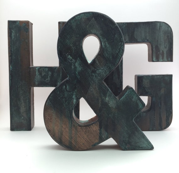 Faux Metal Letters - Rugged Bronze - Metal - Antique - Patina - Aged ...