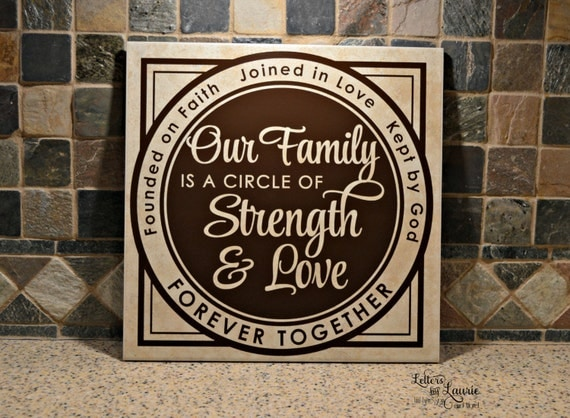 Unique Family Gift Our Family Is A Circle Of Strength