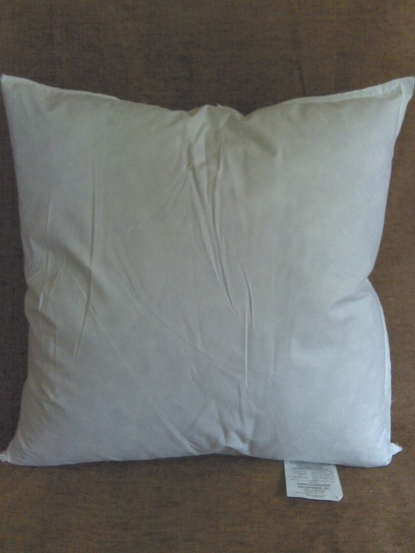 Feather and down pillow inserts 90 10 blend 16x16 18x18 20x20 for Best down pillow inserts